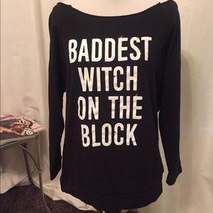 Tops - Baddest witch on the block sweatshirt size medium